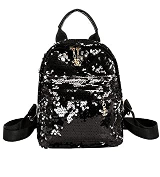fcda72d0155a Amazon.com  Santwo Women s Mini Rivets Waterproof PU Leather Shoulder Bag  Casual Daypack Backpack (B-black)  Santwo Direct