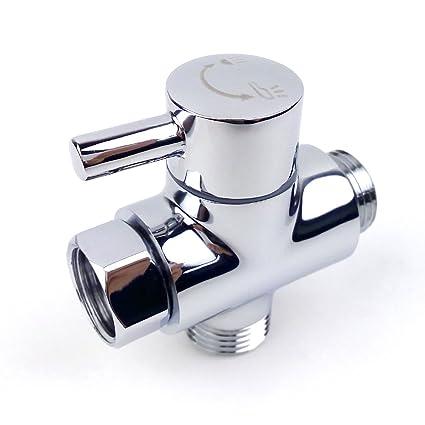 MINGOR Shower Arm Diverter Valve For Hand Held Showerhead And Fixed Spray  Head,G 1