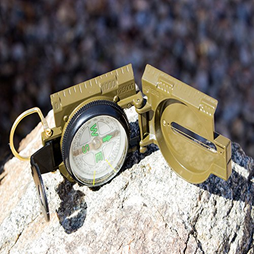 Under Control Tactical Best Lensatic Military Compass For Easy Map Navigation - Professional Grade Survival & Mapping Gear by Under Control Tactical