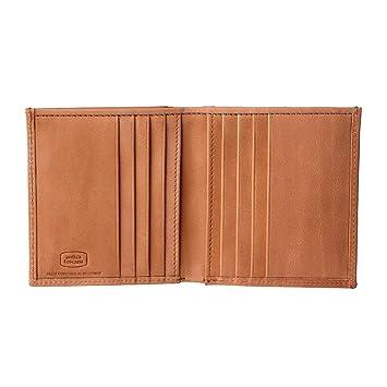 b30a0651af7 Antica Toscana Petit Portefeuille pour Homme en Cuir Véritable Italien avec  Porte-Monnaie à Soufflet