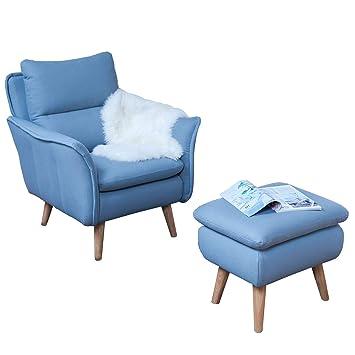 Ohrensessel mit Hocker Lesesessel Relaxsessel Fernsehsessel ...