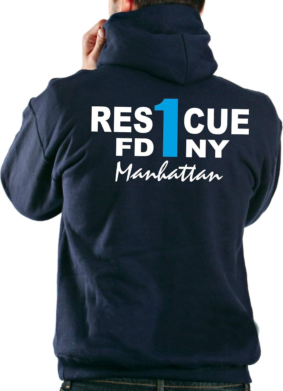 Kapuzensweatjacke navy, FDNY Rescue 1 - Manhattan feuer1