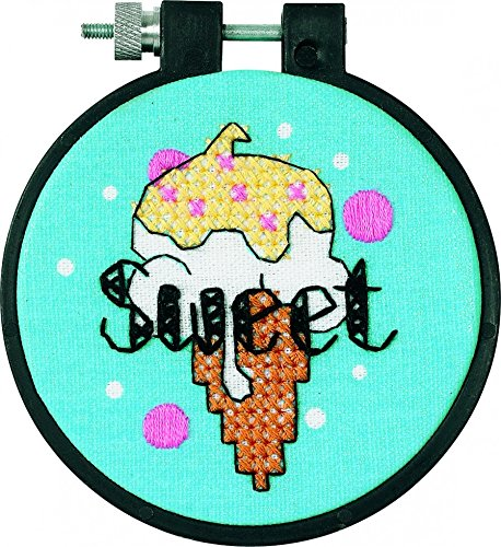 Dimensions Learn A Craft Stamped Cross Stitch Kit Sweet Ice Cream Stitch Ice Cream
