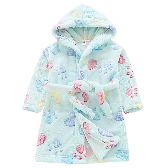 Aivtalk Robe De Chambre Enfant Fille Garçon Vêtement De Nuit