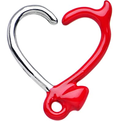 amazon com body candy red devil heart closure daith cartilage
