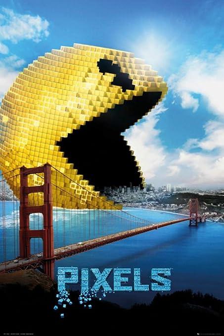 Pixeles - Póster de la película/Imprimir (Pacman) (Tamaño: 61 x 91,4 ...