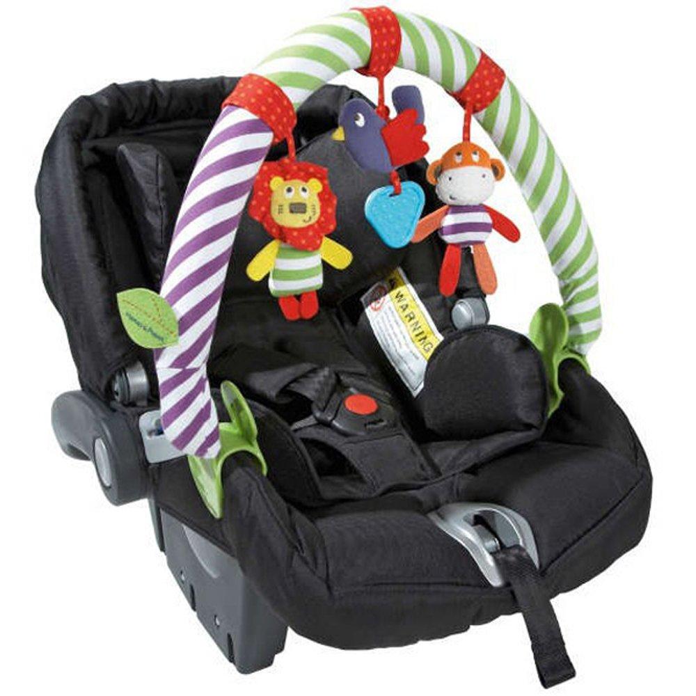 CdyBox Newborn Stroller Crib Pram Travel Spiral Activity Toy, Lion and Bird