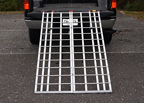 6 ft. Aluminum Folding Ramp Mfg in the USA, #400 - ATV / Snow Blower Ramp (Snow Blower Truck compare prices)