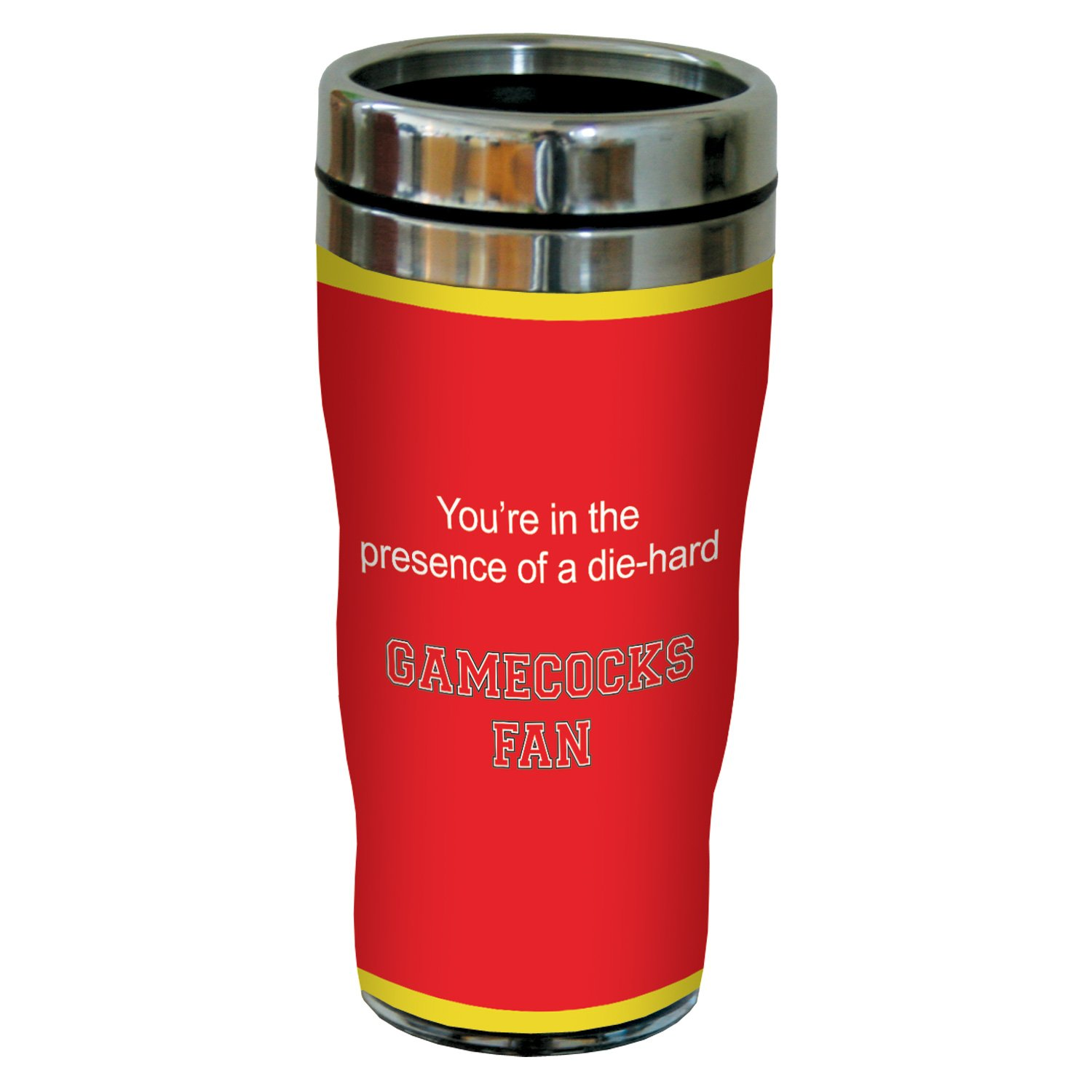 Tree-Free Greetings sg24464 Gamecocks College Football Fan Sip 'N Go Stainless Steel Lined Travel Tumbler, 16-Ounce