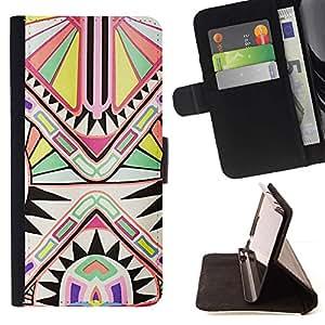 Momo Phone Case / Flip Funda de Cuero Case Cover - Patrón de Arte Antiguo Blanca - Huawei Ascend P8 (Not for P8 Lite)
