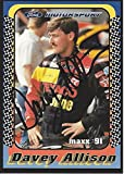 AUTOGRAPHED Davey Allison 1991 Maxx Racing FORD MOTORSPORT (#28 Texaco Havoline Team) Winston Cup Series Rare Vintage Signed NASCAR Collectible Trading Card with COA