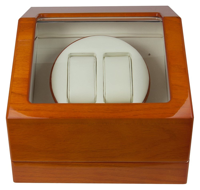 CEM Uhrenbeweger Holzfurnier Poliert fÜr zwei Uhren Watch Winder - 28253
