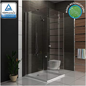 Mampara de ducha 100 x 100 x 195 cm/U de cabina de ducha con ...
