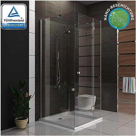 Mampara de ducha 100 x 100 x 195 cm/U de cabina de ducha con cristal los arañazos/cuarto de baño: Amazon.es: Bricolaje y herramientas