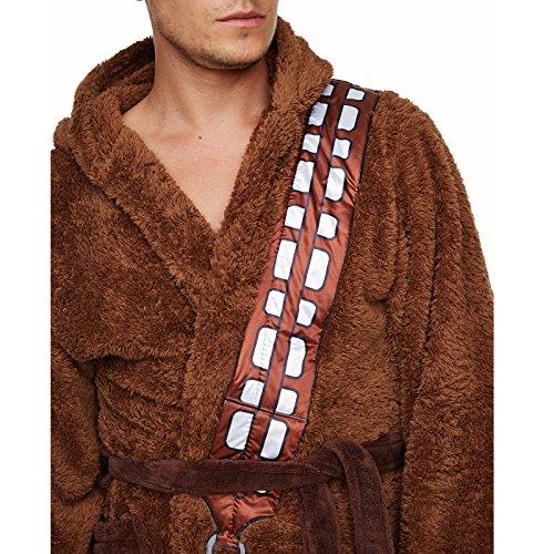 1ec3a3a462 Star Wars Chewbacca Wookie Bademantel sehr flauschig, mit Energiegürtel,  Beuteltasche, Kapuze, braun Kapuze braun-er1kg.eu