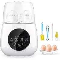 Baby Bottle Warmer, EIVOTOR Bottle Steam Sterilizer 6-in-1 Double Bottle Baby Food Heater for Evenly Warm Breast Milk or…