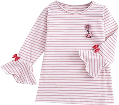 Mitlfuny Primavera Otoño Bebé Camisetas de Volantes Manga ...