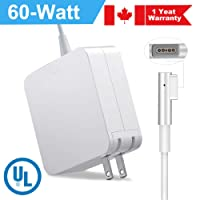 60W Charger for MacBook Air - 2013 13 Inch 16.5V 3.65A Ac Laptop Magnetic Charger Magsafe 2 L Type Power Adapter for Mac Book Pro 13 Inch Retina A1278/A1181/A1184/A1330(2009/2010/2011/2012)