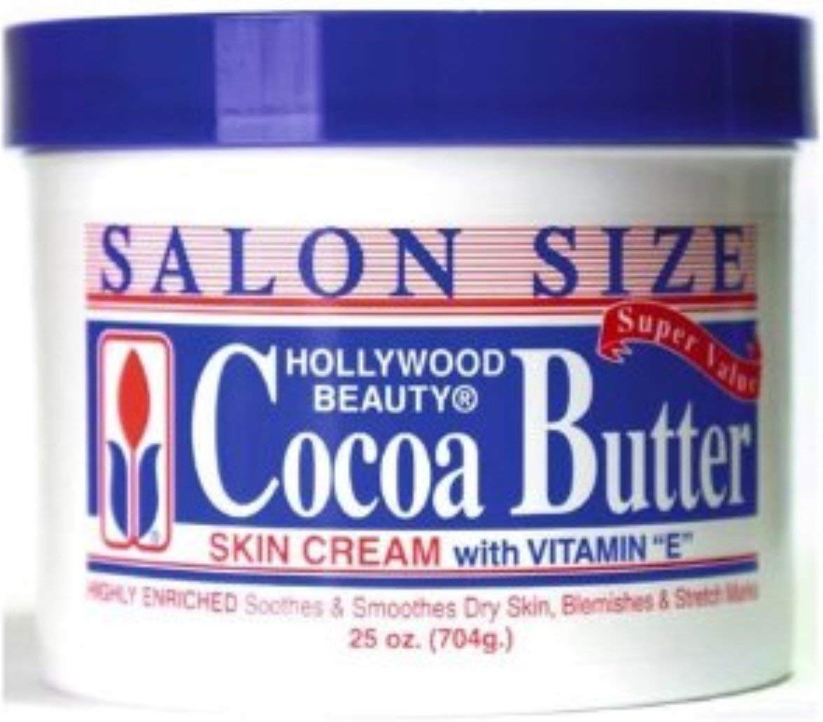 Hollywood Beauty Skin Creme Cocoa Butter, 25 oz (Pack of 2)
