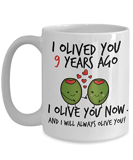 Amazon 9th Wedding Anniversary Gifts For Him I Olived You 9
