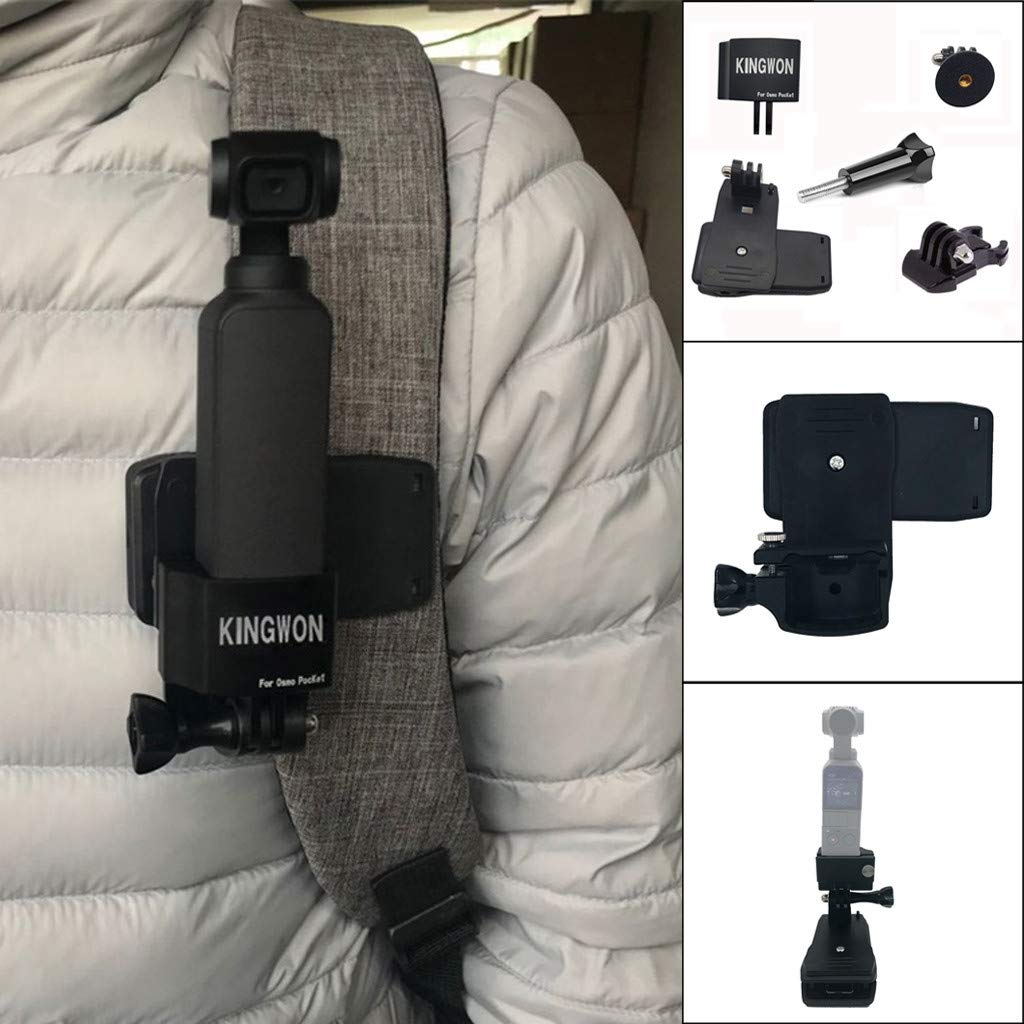 Backpack Holder Clip for DJI OSMO Pocket Camera Accessories Multifunction Stand Mounting 1//4 Screw Adapter Bracket