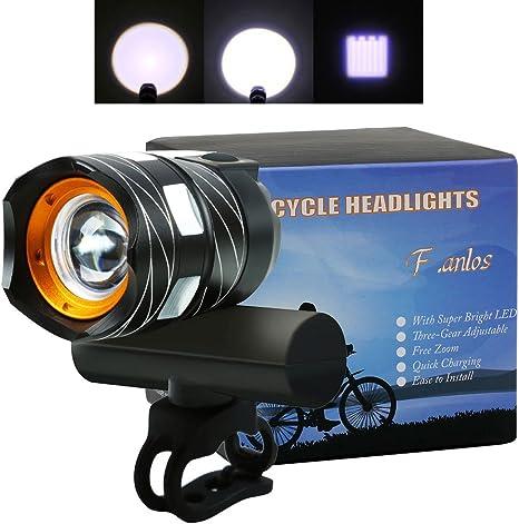Luces Delanteras Bicicleta, Luces para Bicicletas Delantera, LED ...