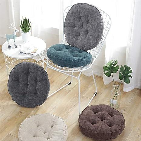 YYYL 2 Piezas,Cojines para Asientos, Cojines tapizados Muebles de jardín, 45 x 45 x 10 cm, en Diferentes Formas y Colores, marrón, Redondo
