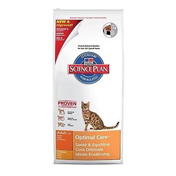 Hill`s Science Plan Alimento con Sabor a Pollo para Gatos Adultos - 10 kg: Amazon.es: Productos para mascotas