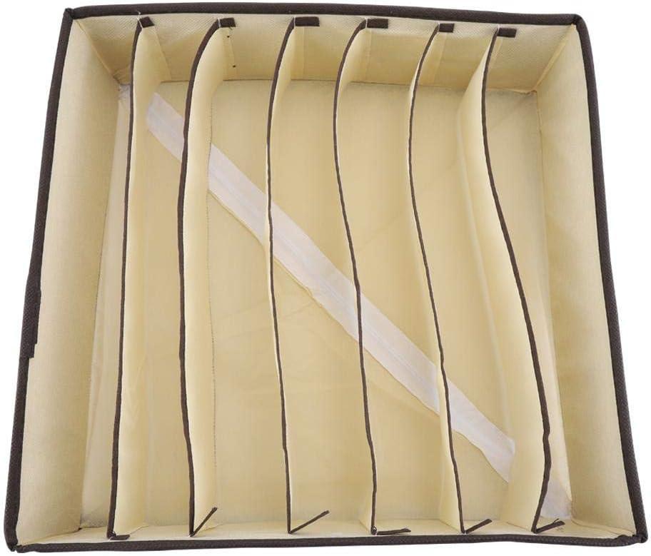 bo/îtes de rangement dorganisateur de garde-robe de diviseur de sous-v/êtements pour le soutien-gorge de r/écipient de chaussette de sous-v/êtements Bo/îte de rangement portative 24 Grids