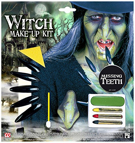 WIDMANN?Witch Makeup Set with Accessory Womens, vd-wdm40323, One -
