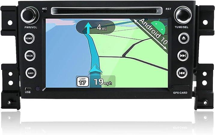 YUNTX Android 10 Autoradio Compatible con Suzuki Grand Vitara (2005-2013) - GPS 2 DIN - Cámara Trasera y Mic Gratis - Soporte Dab + / Control del ...
