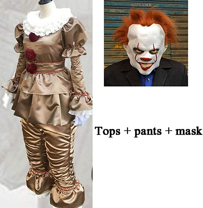 DMMDHR Halloween 3pcs Clown It Cosplay Disfraz Disfraz Adulto ...