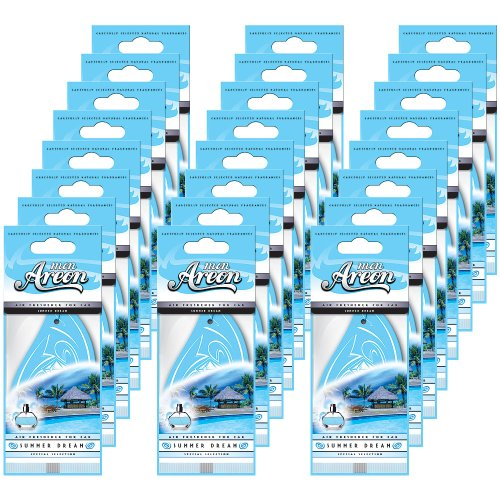 Mon Areon - Modern Classic - Hanging Car and Home Air Freshener - Summer Dream Scent - 24 Pack