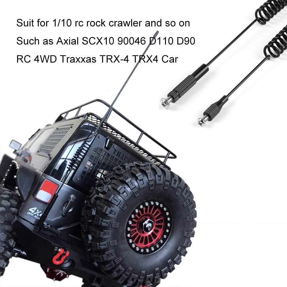 Hootracker Metal Decorative Antenna 160MM 270MM 1//10 RC Crawler Accessories Decoration for 1//10 RC Crawler Axial SCX10 90046 D110 D90 RC 4WD Traxxas TRX-4 TRX4 Car