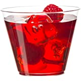 Embellish Clear Hard Plastic Party Cups/Tumblers Old Fashioned Style 9oz - 255ml. (80 Pcs)