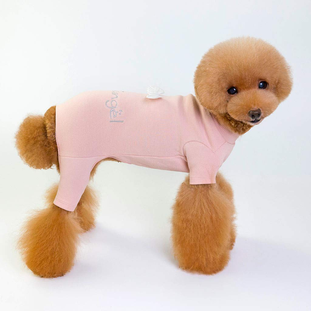 MomentDAY Pet Dog Clothes Embroidery Letters Angel Wings Knitwear Dog Sweater Soft Thickening Warm Pup Dogs Shirt Winter Puppy Knitting Sweater Four-Legged Pants S-L2