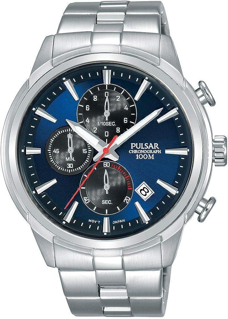 Pulsar Reloj cronografo para Hombre de Cuarzo con Correa en Acero Inoxidable PM3115X1
