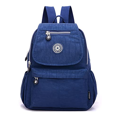 SUNRAY-BUY - Bolso mochila de Lona para mujer Azul azul marino: Amazon.es: Zapatos y complementos