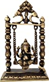 Two Moustaches Ganesha on Jhoola Swing Brass Showpiece | Home Decor |