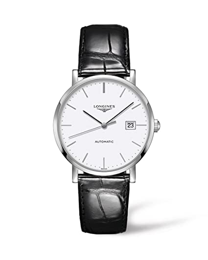 Longines Reloj Analógico para Hombre de Automático con Correa en Cuero L49104122: Amazon.es: Relojes