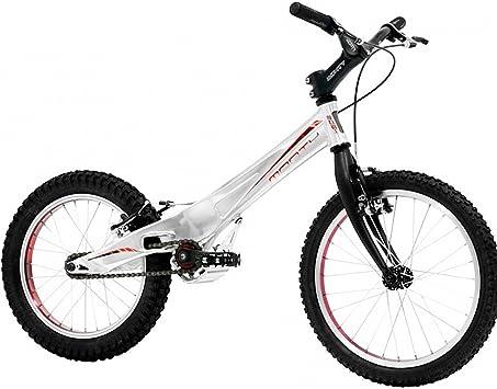 Monty 205K - Bicicleta de Trial para niño, Color Plateado/Rojo, 5