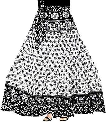 1aaada61653 Modern Kart Women s Cotton Jaipuri Wrap Around Elegant Printed Skirt  (MKSKT077