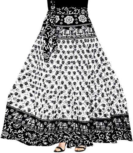 29cecad3a1 Modern Kart Women s Cotton Wrap Skirt (MKSKT056