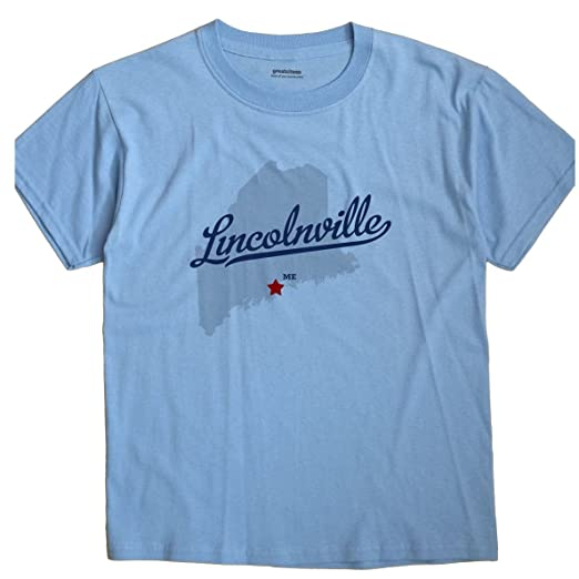 Amazon Com Greatcitees Lincolnville Maine Me Map Unisex Souvenir T