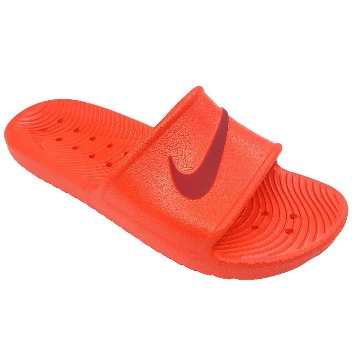 NIKE Women's Kawa Shower Slide Sandals (7, Habanero Red/Red Crush)