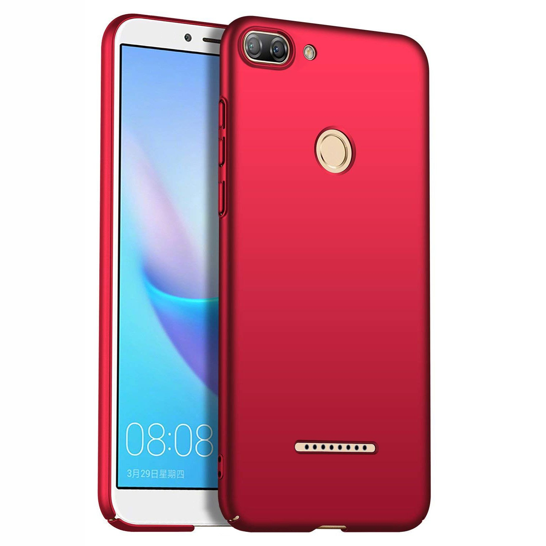 AOBOK Funda Xiaomi Redmi 6, Alta Calidad Ultra Slim Anti-Rasguñ o y Resistente Huellas Dactilares Totalmente Protectora Caso de Duro Cover Case - Azul Oscuro