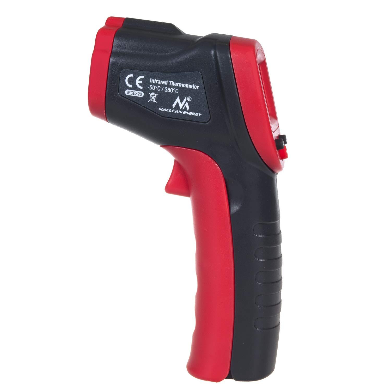 380/°C rouge//noir Maclean MCE320 Thermom/ètre infrarouge sans contact Pyrom/ètre IR Pistolet de temp/érature num/érique 50 /à