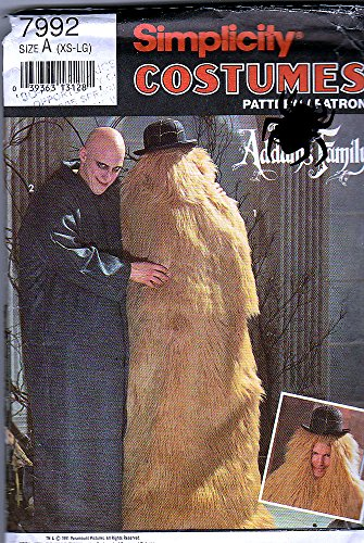 [Simplicity Sewing Pattern 7992 ©1992 Addams Family Costumes; Uncle Fester & Cousin IT, Size A] (Cousin It Costume Addams Family)