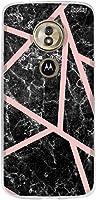 Capa Personalizada para Moto G6 Play - Marmore Faixas Rosas - Husky