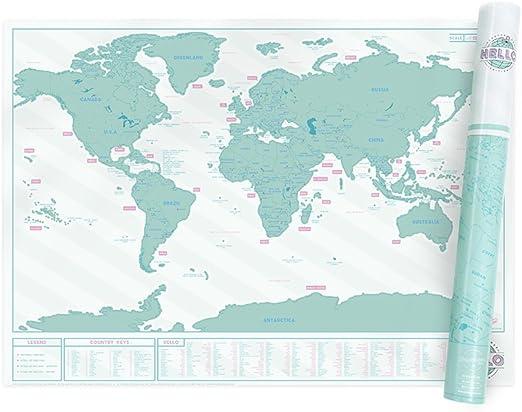 Mapa Scratch Map Hello Edition de Luckies: Amazon.es: Hogar